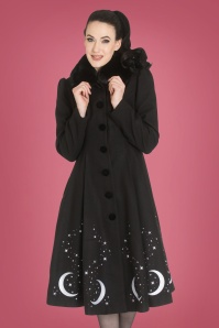 Bunny 50s Interstellar Coat in Black
