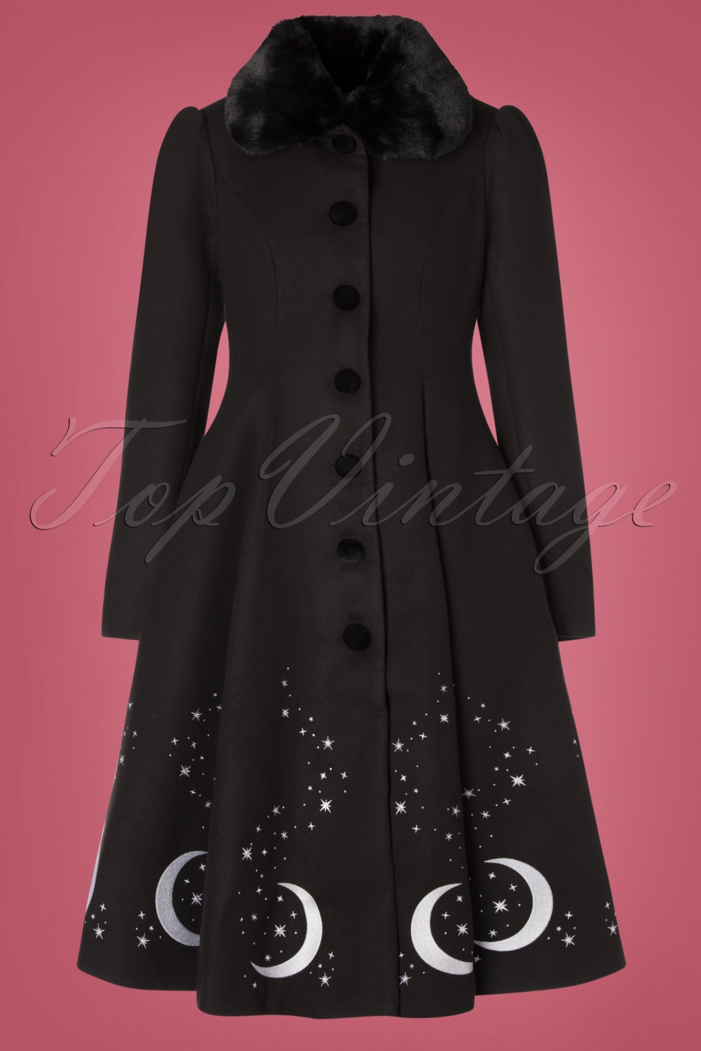 Vintage Coats & Jackets | Retro Coats and Jackets 50s Interstellar Coat in Black £125.24 AT vintagedancer.com