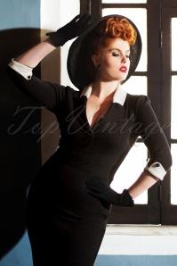 Vintage Diva Frances Striped Pencil Dress   20180618 0016W