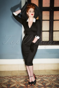 The Frances Pencil Dress en Anthracite