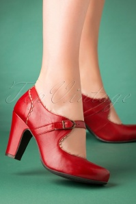 Miz Mooz 30045 Kansas mary Jane Red Beige Pump Heels 20190618 015 W