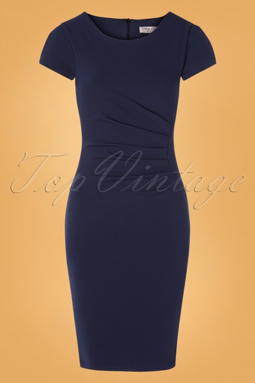 vintage Chic 31139 Pencildress Navy 20190716 0003W