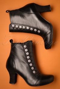 Miz Mooz 30052 Kips Ankle Boot Black Silver 20190618 025 W