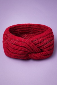 Collectif 30486 Lexy Knitted Headband Red20190712 012W