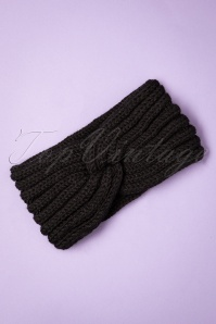 Collectif Clothing 70s Lexy Knitted Headband in Black