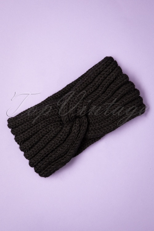 Collectif 30847 Lexy Knitted Headband Black20190712 019W