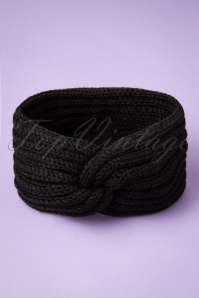 Collectif 30847 Lexy Knitted Headband Black20190712 011W