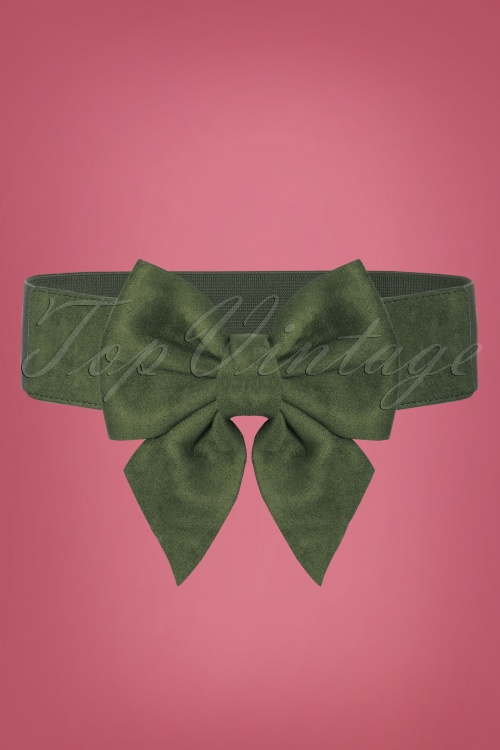 Collectif 30452 Deanna Plain Bow Belt Green 20190712 006W