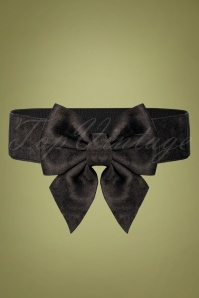 50s Deanna Bow Belt in Black