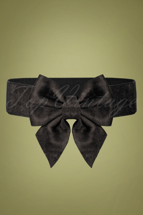 Collectif 30453 Deanna Plain Bow Belt Black 20190712 006W