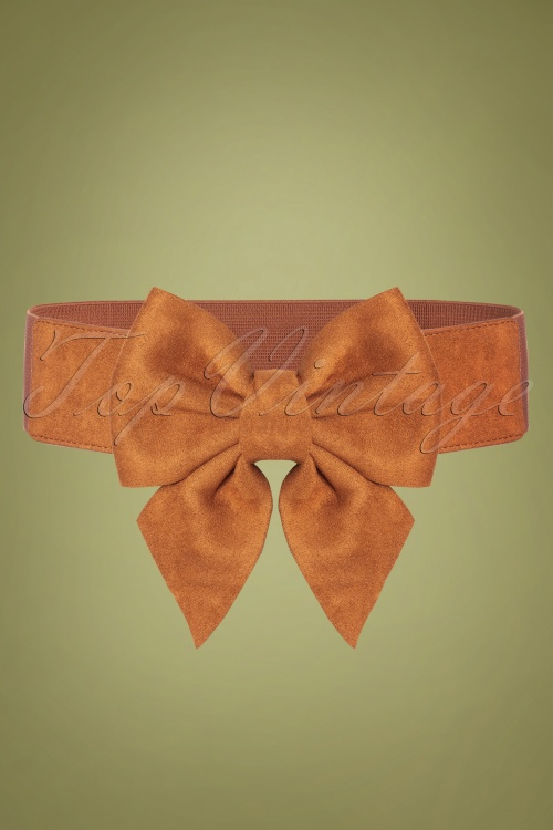 Collectif 30454 Deanna Plain Bow Belt Tan20190712 006W