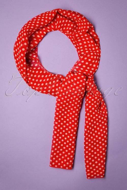 Collectif 30488 Sammy Polka Sash Scarf Red white20190712 019W
