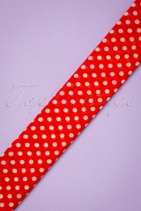 Collectif 30488 Sammy Polka Sash Scarf Red white20190712 007W