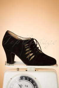 Topvintage Boutique Collection 30439 Elsa Black Heels Suede 20190704 044W