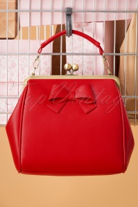 50s Mindy What Is Love Handbag in Burned Red