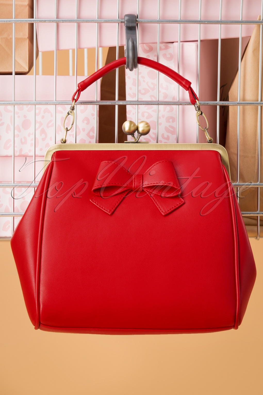 1950s Handbags, Purses, and Evening Bag Styles 50s Mindy What Is Love Handbag in Burned Red £37.55 AT vintagedancer.com