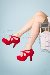 Topvintage Boutique Collection 30437 Angie Red Heels 20190703 032W