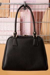 Peggy Means Business Handbag Années 50 en Noir