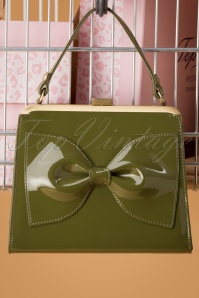 Topvintage Boutique Collection 30443 Inez Bag Bow Green 20190704 008 W