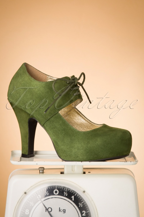 Topvintage Boutique Collection 30427 Angie Green Heels 20190704 029W