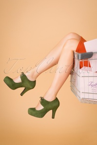 Topvintage Boutique Collection 30427 Angie Green Heels 20190703 023W