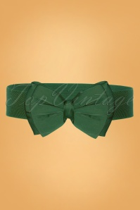 Collectif Clothing 50s Bella Bow Belt in Green