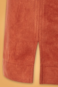 Louche 30120 60s Orange Mini Skirt 20190717 003W