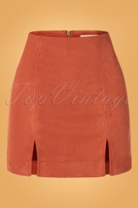 Louche 60s Kaila Mini Skirt in Rust