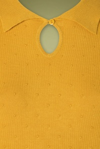 Louche 30119 Mustard Yellow Dot Top 20190717 003W