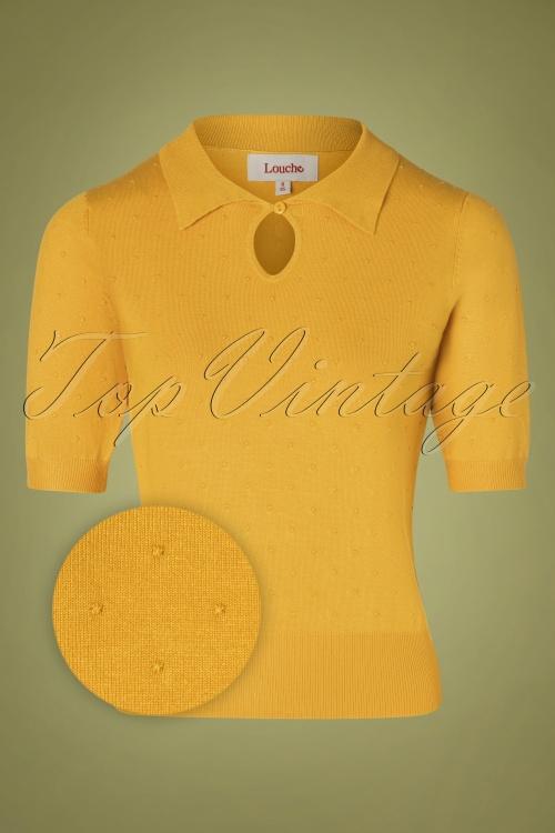 Louche 30119 Mustard Yellow Dot Top 20190717 002Z