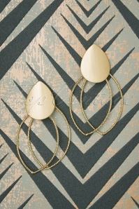 Glamfemme 20s Gemma Earrings in Gold