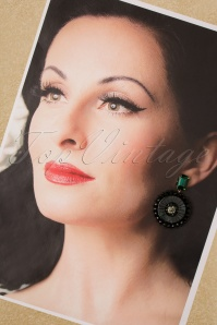 Glamfemme 31317 Earrings Gold Green 20190717 005 W