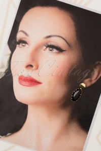 Glamfemme 31306 Earrings Gold Black 20190717 005 W