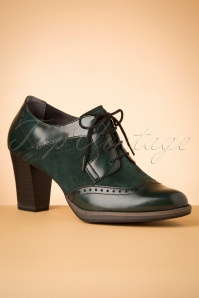 Tamaris 40s Dorothy Shoe Booties in Emerald