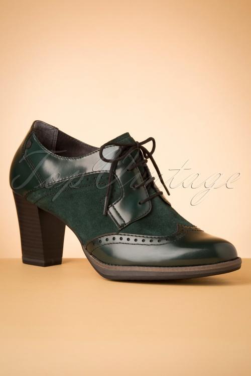 Tamaris 29653 Emerald Bootie Green Heels 20190717 005W