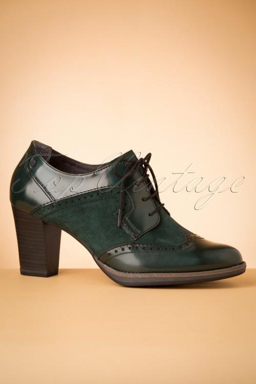 40s Dorothy Shoe Booties in Emerald