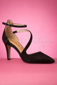 Tamaris 50s Cordelia Leather Pumps in Black