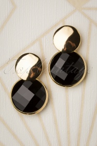 Glamfemme 31298 Earrings Gold Black 20190717 003 W