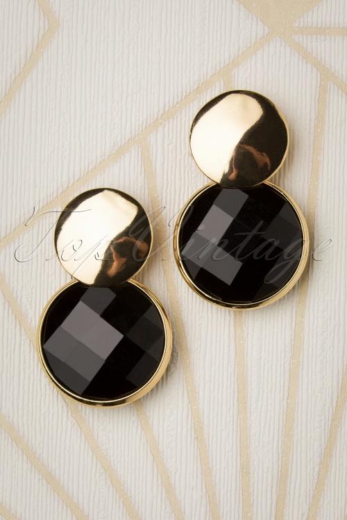 Glamfemme 31298 Earrings Gold Black 20190717 003 W