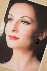 Glamfemme 31310 Earrings Gold Black 20190717 006 W