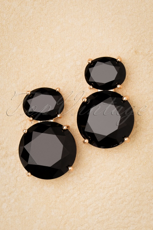 Glamfemme 31310 Earrings Gold Black 20190717 005 W