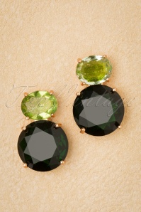 50s Sonya Earrings in Green