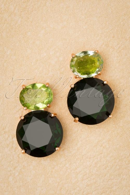 Glamfemme 31311 Earrings Gold Green 20190717 008 W