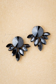 Samantha Earrings Années 50 en Anthracite