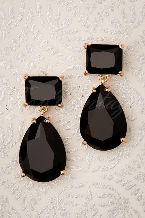 Glammfemme 31309 Earring Black Gold 20190718 000004 W