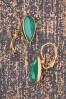 Glammfemme 31296 Earring Green Gold Drop 20190718 0007 W