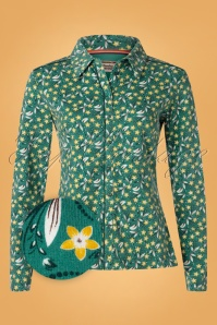 4FunkyFlavours 60s Food For Thot Blouse in Green
