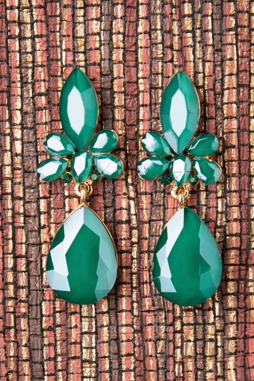 Glammfemme 31316 Earring Green Gold  20190718 0010W