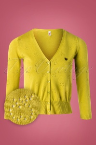 Blutsgeschwister 60s Sweet Petite Cardigan in Golden Apple