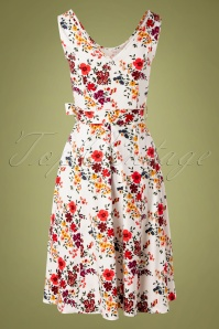 Lady Vintage 30854 Swingdress White Floral Charlotte 07192019 000008W
